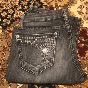 ROBIN'S Jeans Long Flap Gemstone Bling